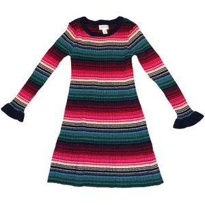 Gymboree Long Sleeve Knit Sweater Dress Stripes 2T
